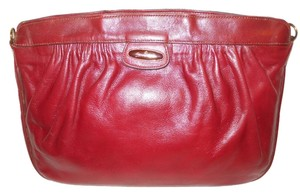 Etienne Aigner Vintag Vintage Leather burgandy Clutch