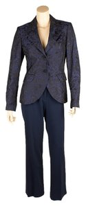 Escada Escada Blue Silk 3-Piece Suit, Size 36 (49572)