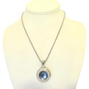 Other Emma Skye 2-Tone Blue Topaz Color Pendant w/ Chain