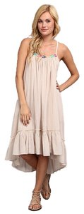 Cream, Ivory Maxi Dress by Free People High Low Trendy Cream Ivory
