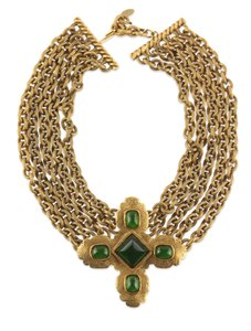 Chanel Chanel Gripoix And Gold Byzantine Necklace