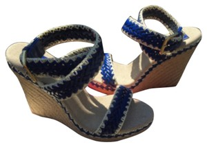 Tory Burch Spadrilles Blue Wedges