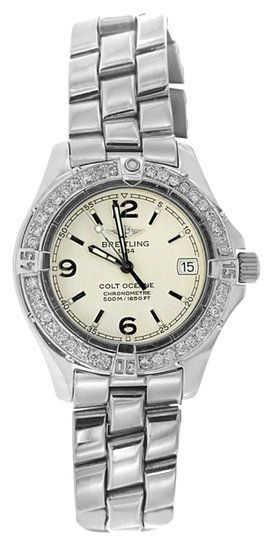 Breitling 1CT LADIES BREITLING COLT OCEANE STAINLESS STEEL WATCH WITH APPRAISAL