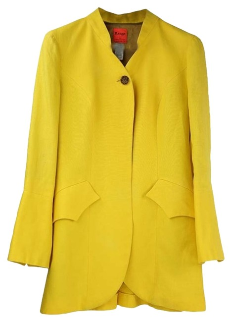 Preload https://item2.tradesy.com/images/christian-lacroix-vintage-christian-lacroix-yellow-linen-jacket-5015506-0-0.jpg?width=400&height=650