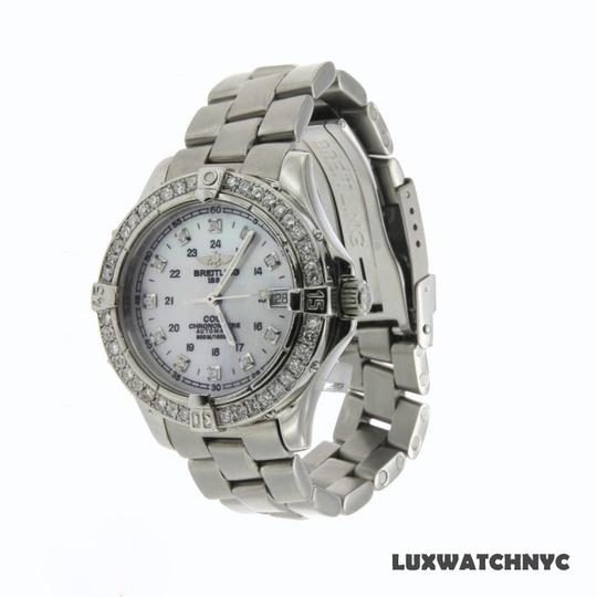 Breitling 1.25CT LADIES BREITLING COLT STAINLESS STEEL WATCH WITH APPRAISAL