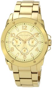 Vince Camuto Ladies Goldtone Chronograph Watch