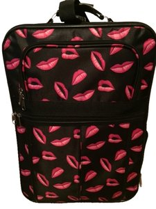 Black/Bright Pink Travel Bag