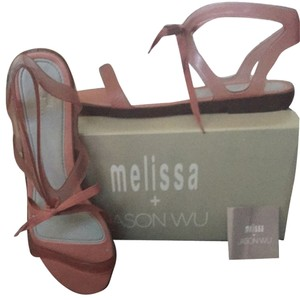 Melissa + Jason Wu Pink/Grey Sandals
