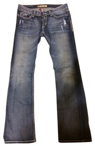 BKE Distressed Denim Boot Cut Jeans-Medium Wash