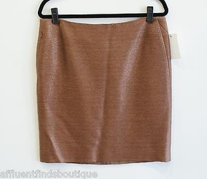 Akris Bergdorf Goodman Skirt Brown