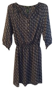 Ralph Lauren short dress Navy Blue and White Printed Apparel on Tradesy