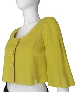 Rebecca Taylor Linen Swing YELLOW Jacket