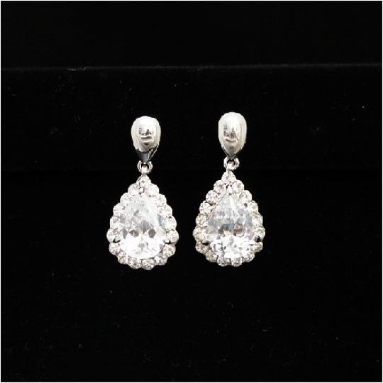 Preload https://item5.tradesy.com/images/silverwhite-gold-vintage-cz-earrings-50174-0-0.jpg?width=440&height=440