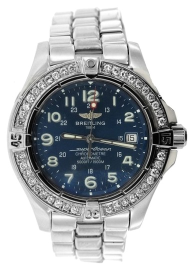 Breitling Stainless Steel Breitling Superocean with Diamond Bezel
