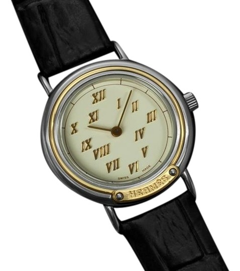 Hermès Hermes Meteore Ladies Watch - Stainless Steel & Solid 18K Gold
