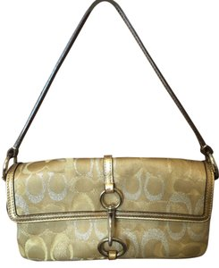 Coach Gold and Silver Clutch
