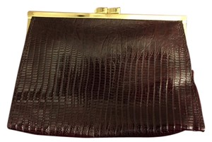 Newport News Dark Burgundy Clutch