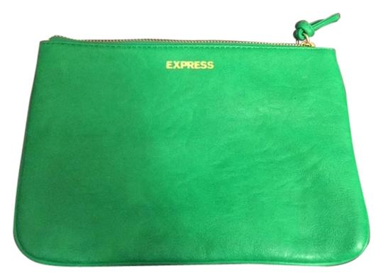 Preload https://item1.tradesy.com/images/express-green-faux-leathercotton-clutch-5018650-0-0.jpg?width=440&height=440
