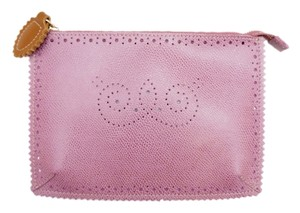 Furla New Mauve Leather Purple Clutch
