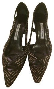 Manolo Blahnik Black And White Heels 8.5 Dressy Pumps