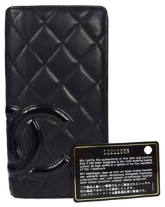 Chanel Chanel Cambon Quilted Ligne Leather and Patent Leather CC Monogram Wallet.