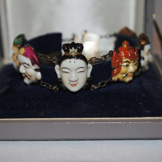 Toshikane Toshikane Seven Gods of Good Fortune Bracelet, Earrings and Button Set