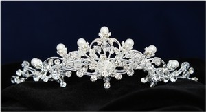 Silver/Rhodium Plate Crystal Comb Hair Accessory