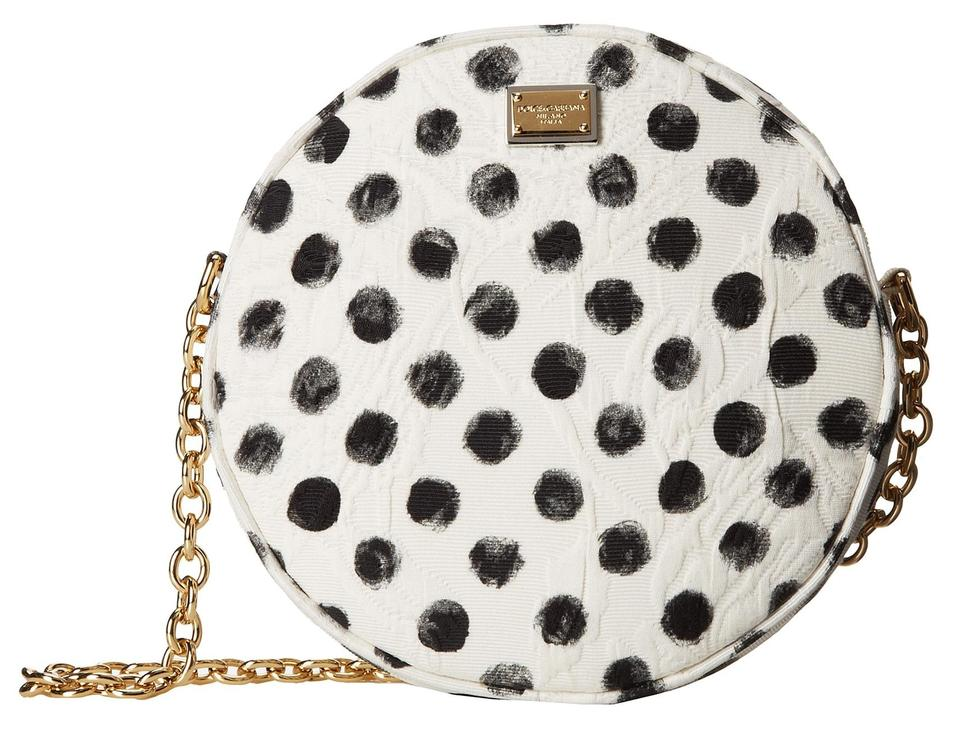 Dolce Gabbana Dolce   Gabbana Glam Polka Dot Round Shoulder Clutch Cross  Body Bag ... 16c084a3631dc