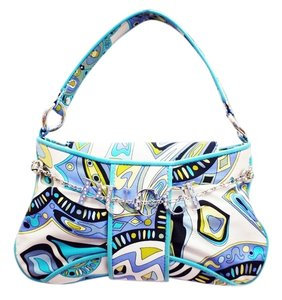 Emilio Pucci Pochette Multi-Color, Blue Clutch