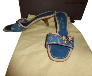 Louis Vuitton MONOGRAM DENIM CANVAS Mules