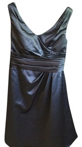 David's Bridal short dress Charcoal on Tradesy