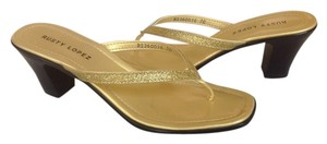 Rusty Lopez Gold Sandals