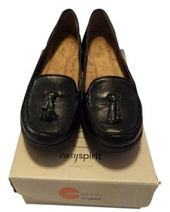 Easy Spirit Upper Leather Comfortable Inside Cushion black Wedges