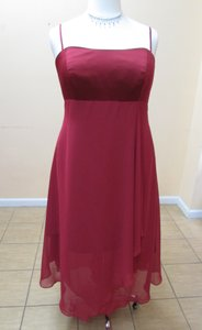 Alfred Angelo Claret Sation Chiffon 6343w Modern Bridesmaid/Mob Dress Size 20 (Plus 1x)
