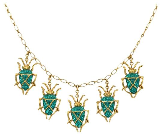 Askew London Askew London Signed Scarab Drops Necklace and Scarab Earrings Set
