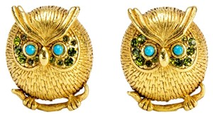 Askew London Askew London 60'S Owl Clip on Earrings