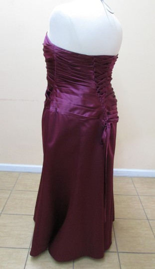 Alfred Angelo Berry Satin 7006w Modern Bridesmaid/Mob Dress Size 20 (Plus 1x)