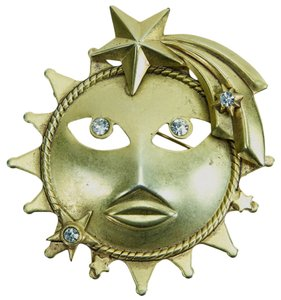 Askew London Vintage Askew London Sun Brooch Pin