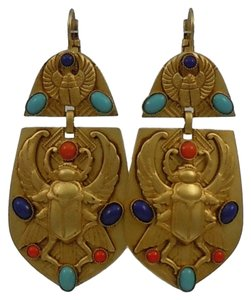 Askew London Askew London 'Egyptian Revival' Winged Scarab Doorknocker Earrings