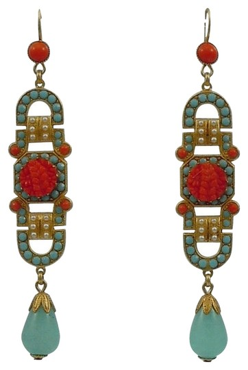 Askew London Askew London 'Art Deco' Long Drop Earrings