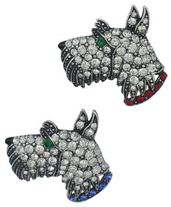 Askew London Askew London Pair of Crystal Set Terrier Brooches