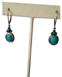 Other Embellished by Leecia Neon Apatite & Turquoise Earrings