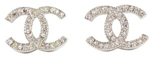 Chanel Chanel Silver/Crystal Moscova Earrings