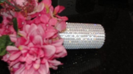 White Rhinestone Bouquet Wrap