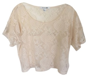 Forever 21 21 Lace Sheer Lace Top