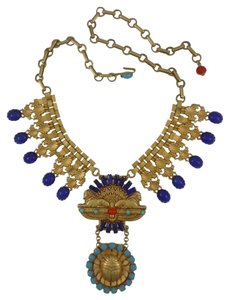 Askew London Askew London 'Egyptian Revival' Double Sphinx Collar Necklace
