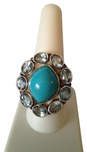 Embellished by Leecia Blue Topaz & Turquoise Ring