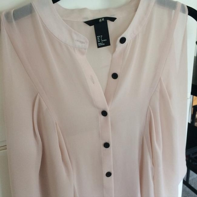 Forever 21 H&m Sheer Sheer Button Down Button Down Top