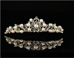 Ivory/Other Crystal with Faux Pearls Tiara