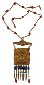Askew London Askew London 'Egyptian Revival' Cleopatra Pendant Necklace